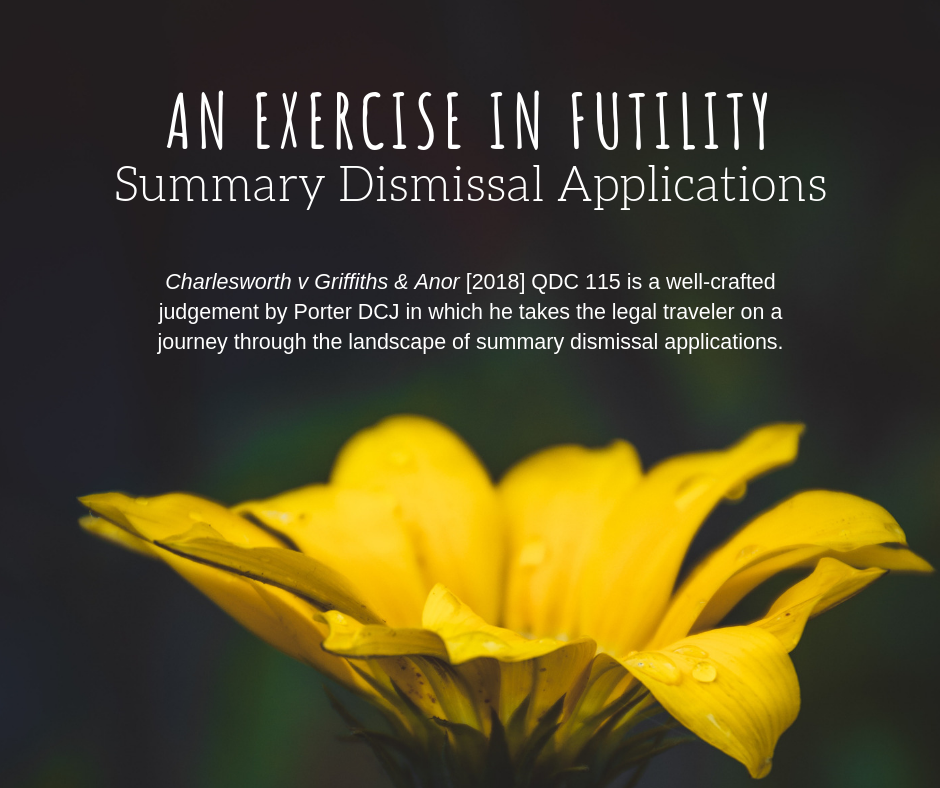 An exercise in futility – summary dismissal applications