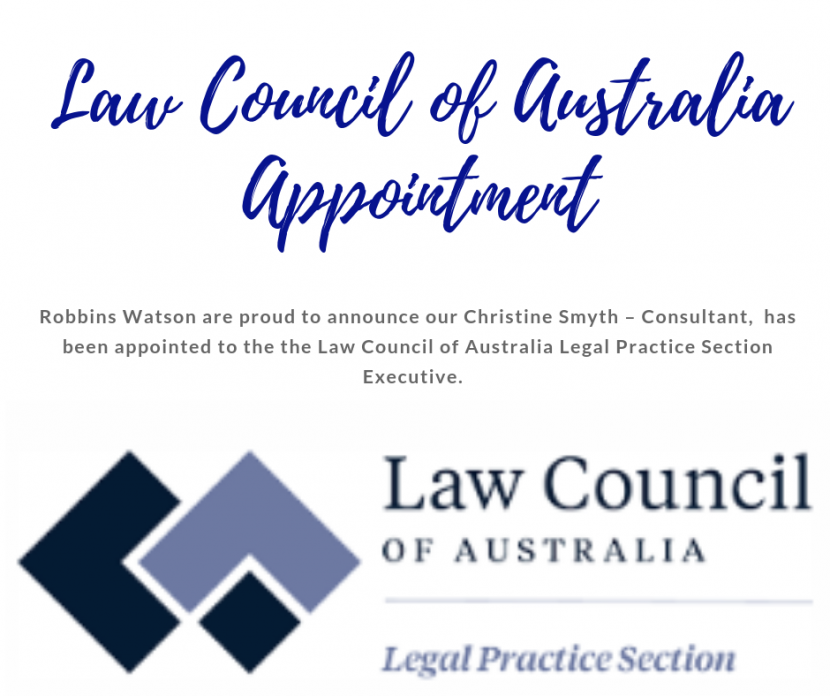 LAW COUNCIL OF AUSTRALIA APPOINTMENT