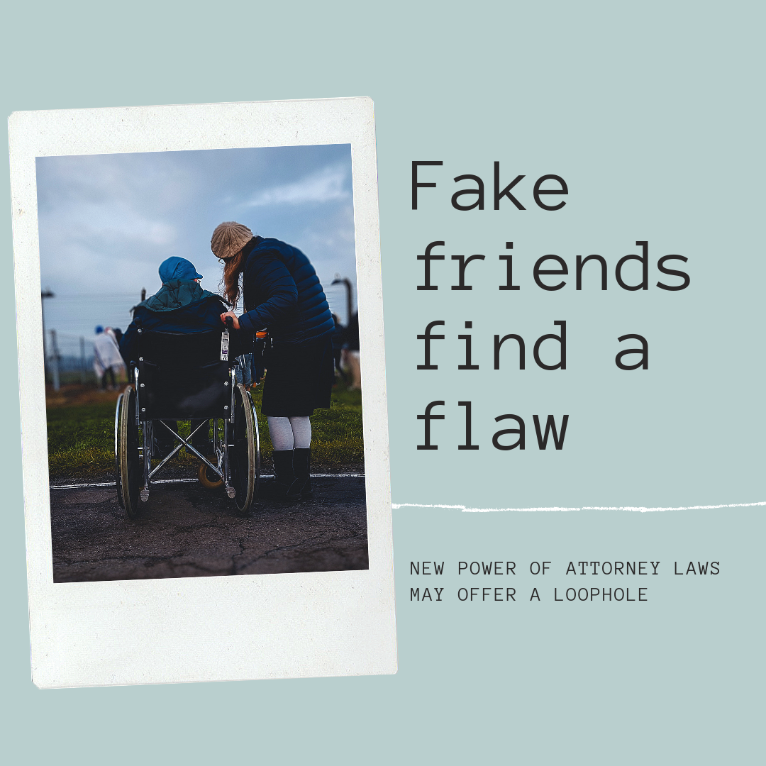 Fake friends find a flaw