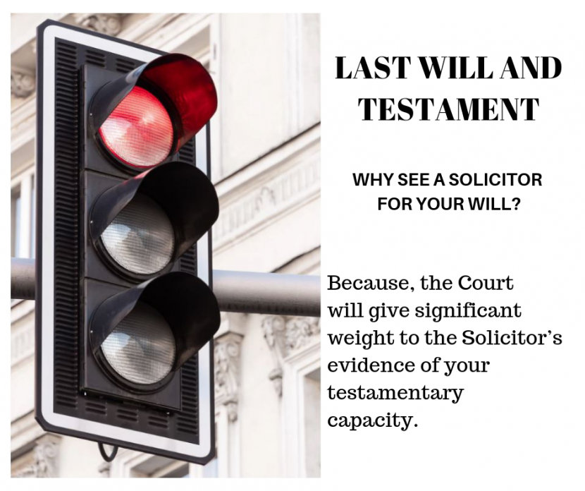 Why see a Solicitor for your Will?